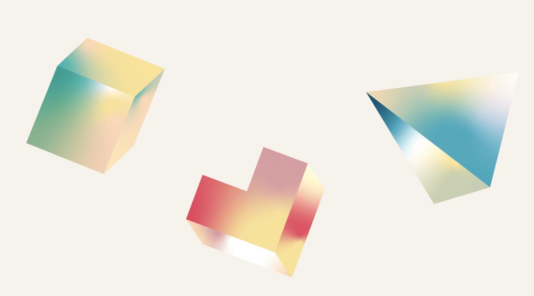 Blocchi da costruzione nel colore e nella forma di un arcobaleno, che rappresentano quanto sia raro e speciale diventare una startup di successo